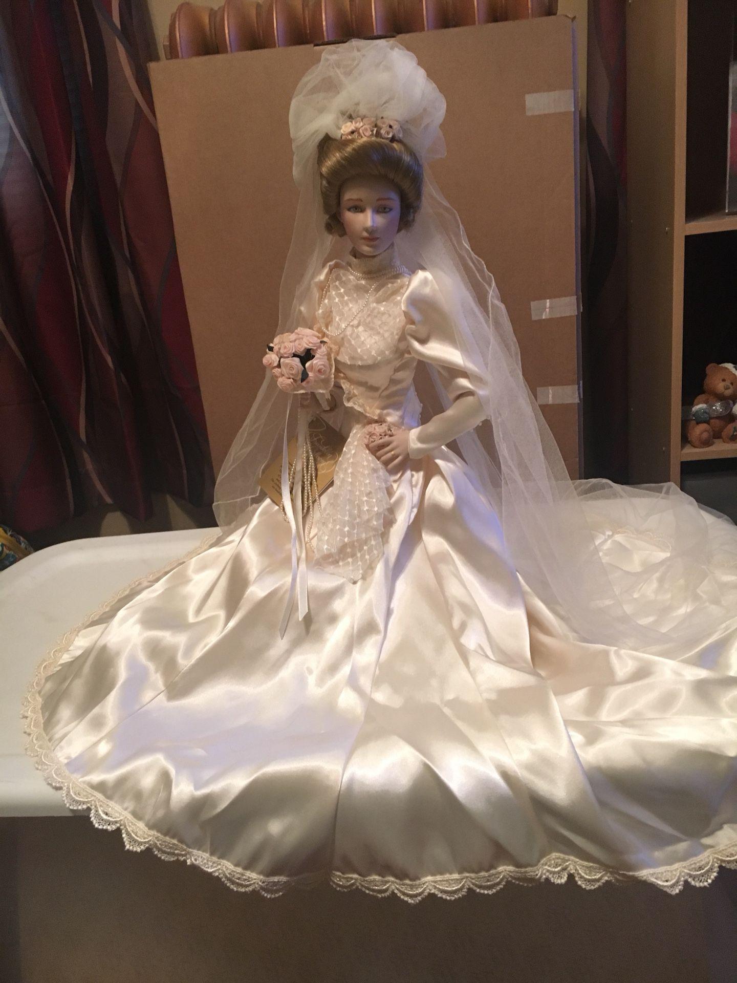 Gibson Girl Porcelain Bride Doll