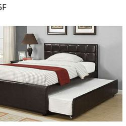 CLOSEOUTS LIQUIDATION SALE BRAND NEW TWIN SIZE BED FRAME AVAILABLE IN FULL ADD MATTRESS ALL NEW FURNITURE PDX9215T 0E Thumbnail