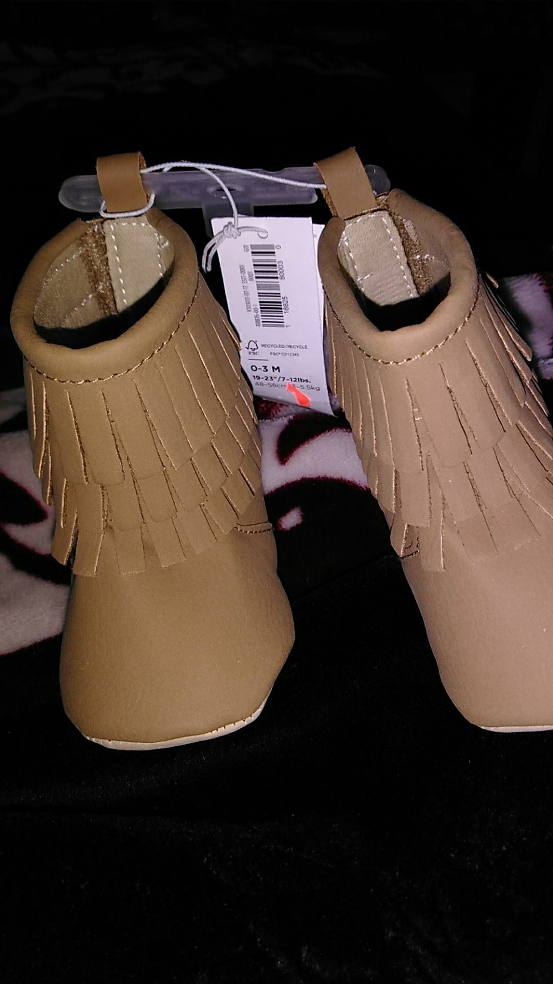 0-3 month baby boots