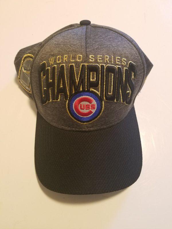 1c335b077d4fc New Era Chicago Cubs Graphite/Black 2016 World Series Champions Locker Room  On Field 39THIRTY Flex Hat