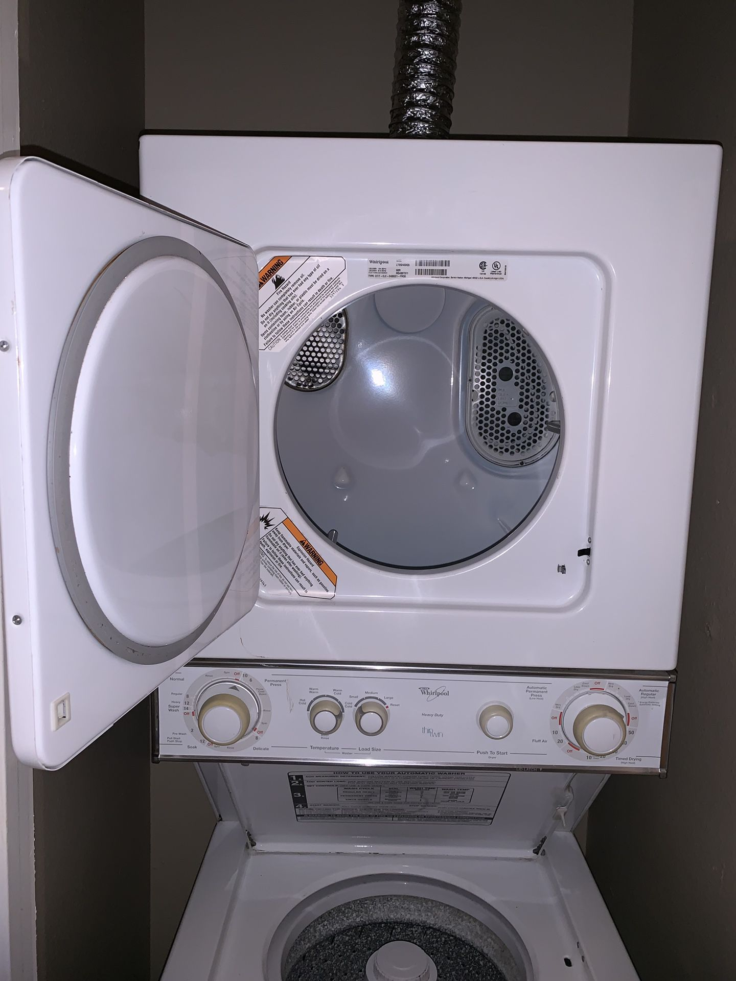 Whirlpool Stackable Washer Dryer Combo
