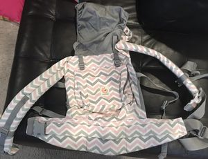 Ergo baby carrier in pink and gray $45 like new for Sale in Brentwood, NC