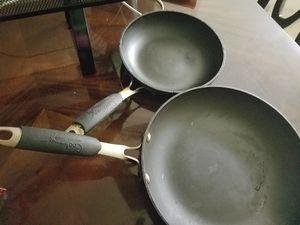Nonstick frying pan set. Calphalon brand for Sale in Manassas, VA