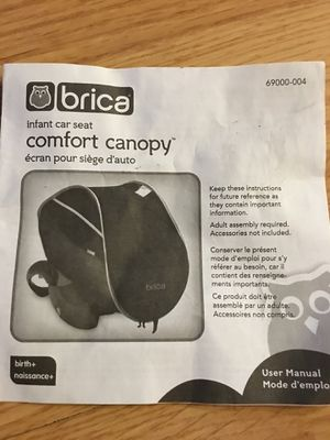 Brica Infant Car Seat Canopy For Sale In Pittsburgh PA