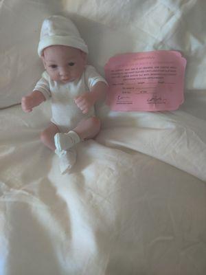 Photo Small baby boy reborn baby