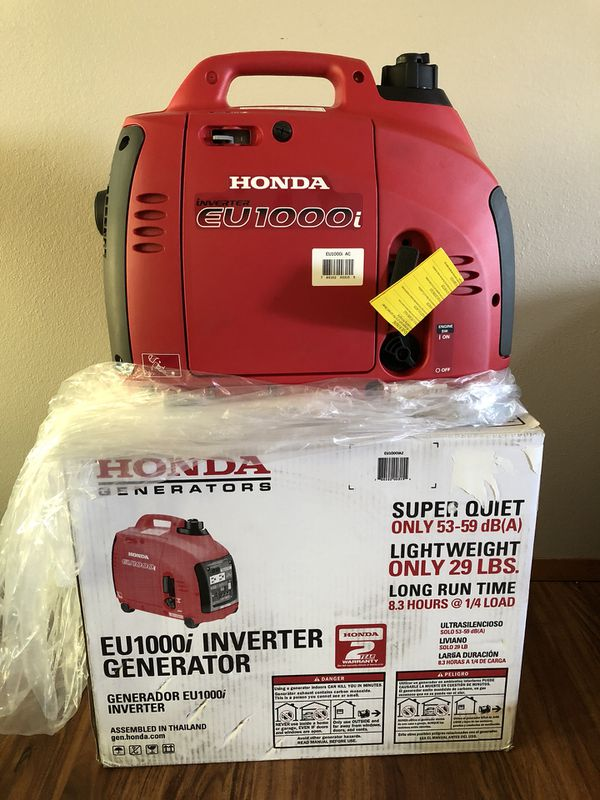 Brand New In Box Honda EU1000i Generator for Sale in Buckley, WA ...