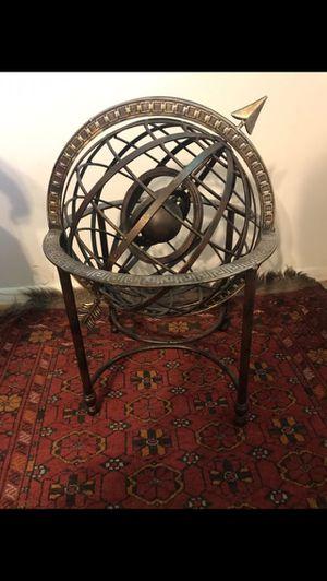 Antique cast iron astrolabe home decor rustic feel garden decor for Sale in VA, US