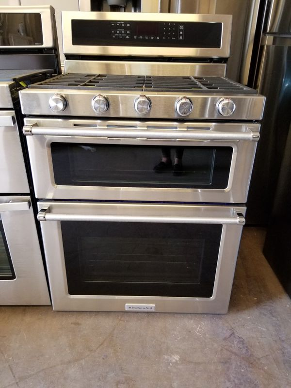 Kitchenaid double oven gas stove for Sale in Phoenix, AZ - OfferUp