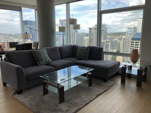 Coach. Sofa. Desk. Lights. Sofa bed. Bedside table. Rug for Sale in Seattle, WA