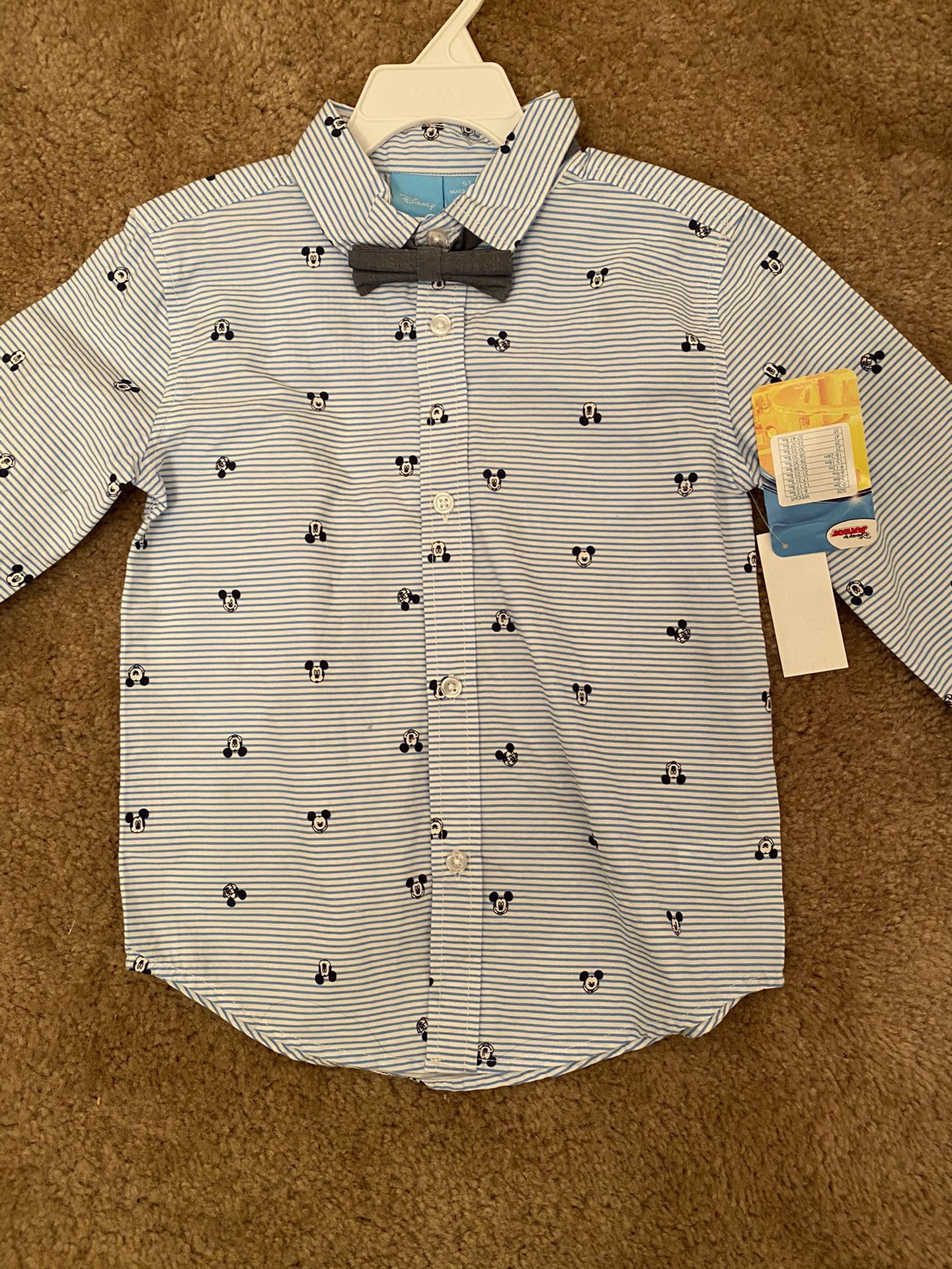 Mickey Mouse Toddler Shirt 5T New With Tags