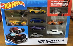 Photo Hot Wheels Gift Pack 9 Cars Exclusive Decoration - NEW