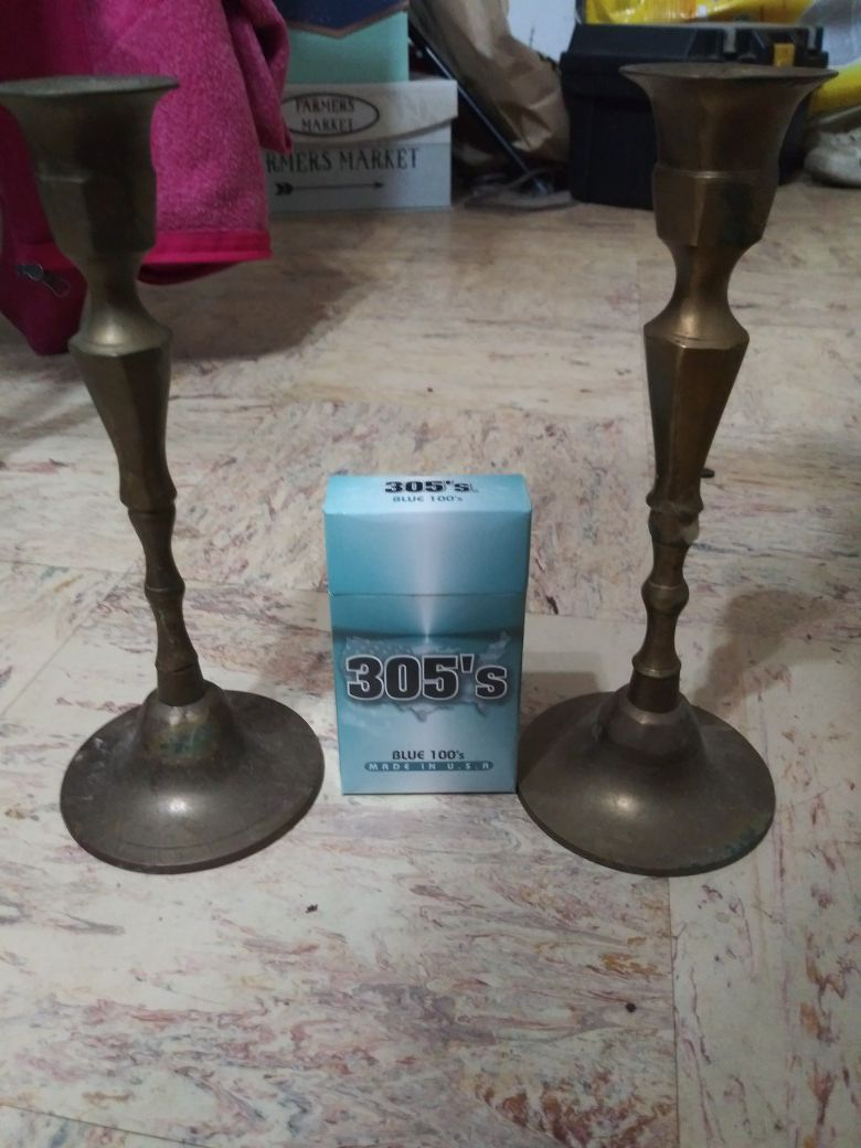 India brass candle sitcks