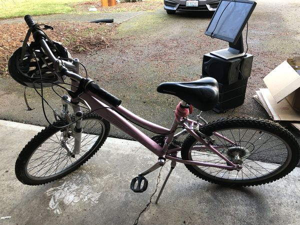 "49a25be3768 24"" SCHWINN High Timber girls bike with helmet for Sale in Mountlake ..."