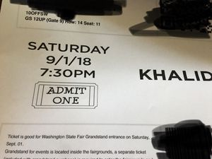 2 Khalid tickets September 1st for Sale in Spanaway, WA