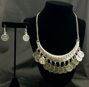 Silver Stones Coin Necklace Set for Sale in Austin, TX