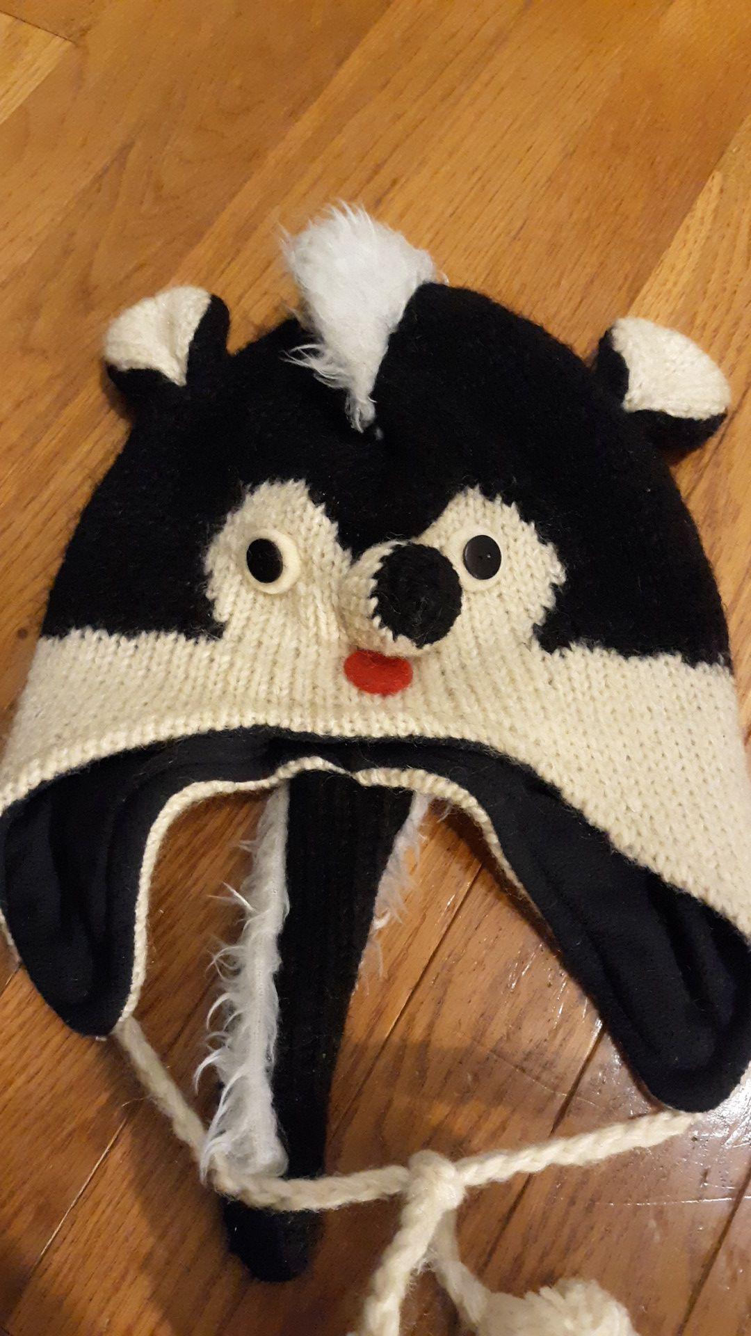 Winter skunk hat