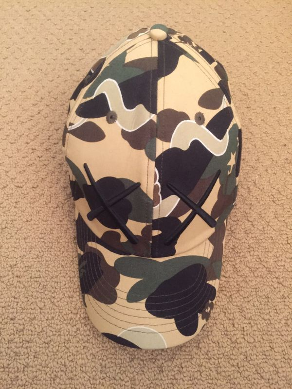 Bape X Kaws >> Bape X Kaws Camo Fitted Hat Szm For Sale In Irvine Ca Offerup