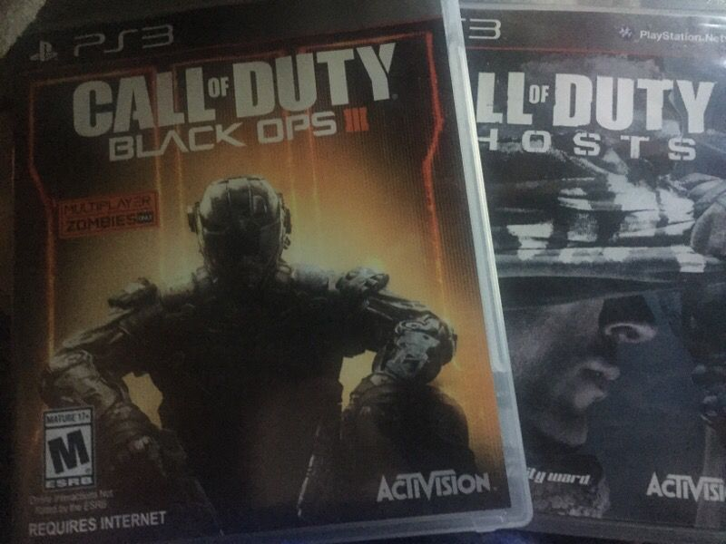 COD black ops 3 and COD ghost