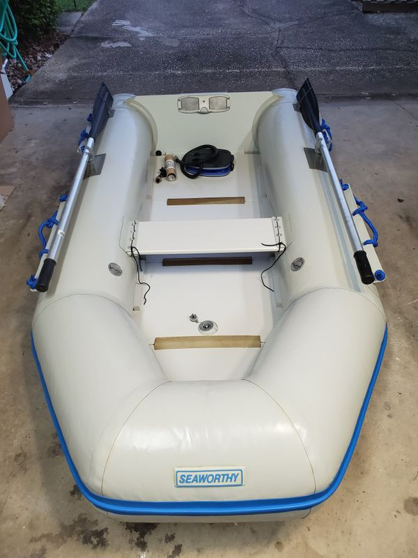 Never used Seaworthy 9 2 Zodiac type dingy / inflatable boat for Sale in  Milton, FL - OfferUp