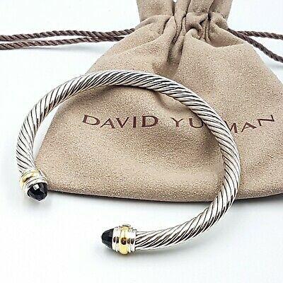 David Yurman 5mm Black Onyx Gold Bracelet
