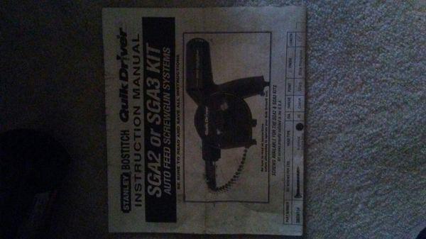 Stanley Bostitch SGA2/SGA3 Qu9ik Driver Auto Feed Screw Gun for Sale in  Indianapolis, IN - OfferUp