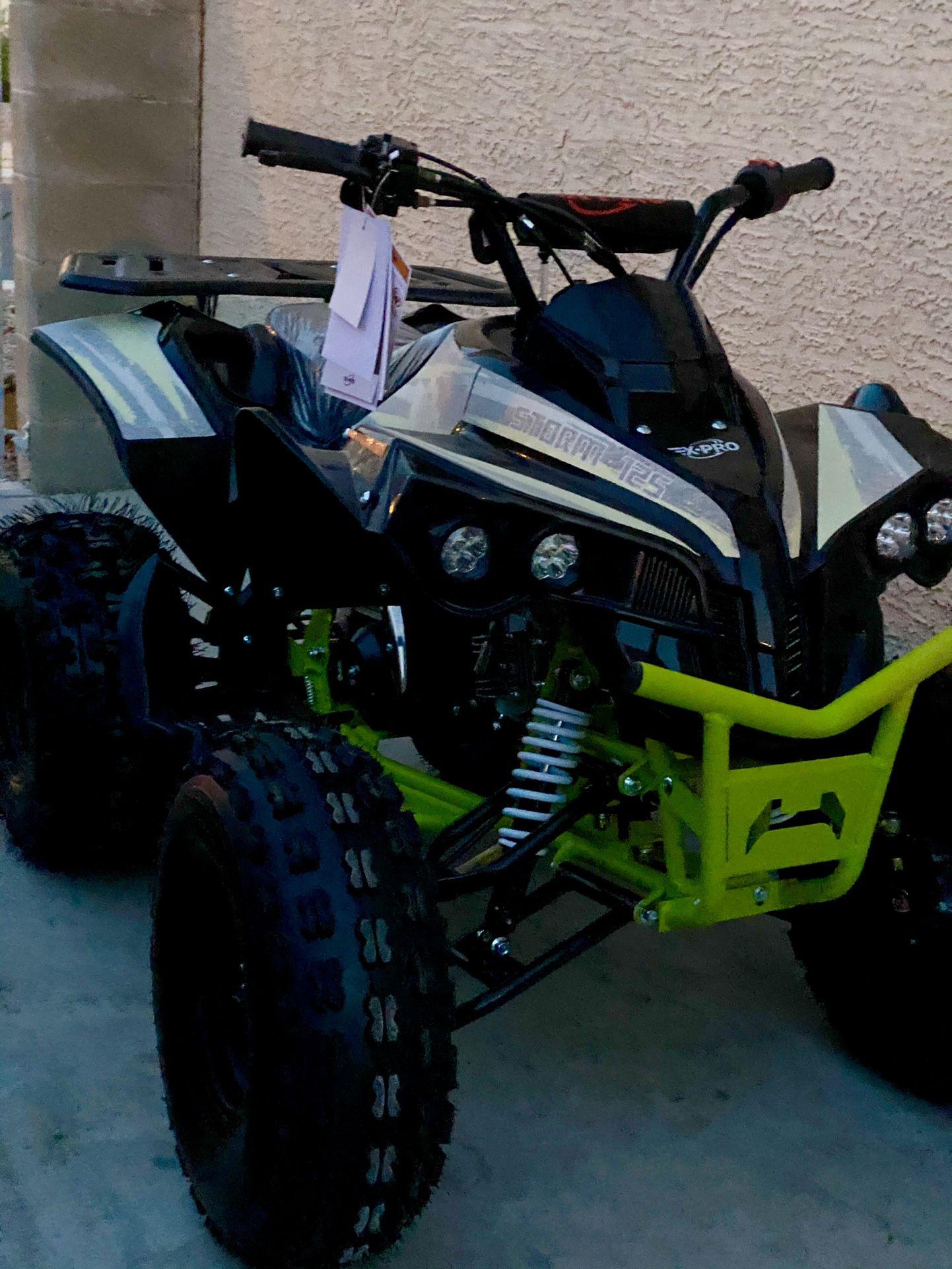🚨Brand New ATV Quad 4 Wheeler for ADULT 125cc w/ LED lights & Title on Hand