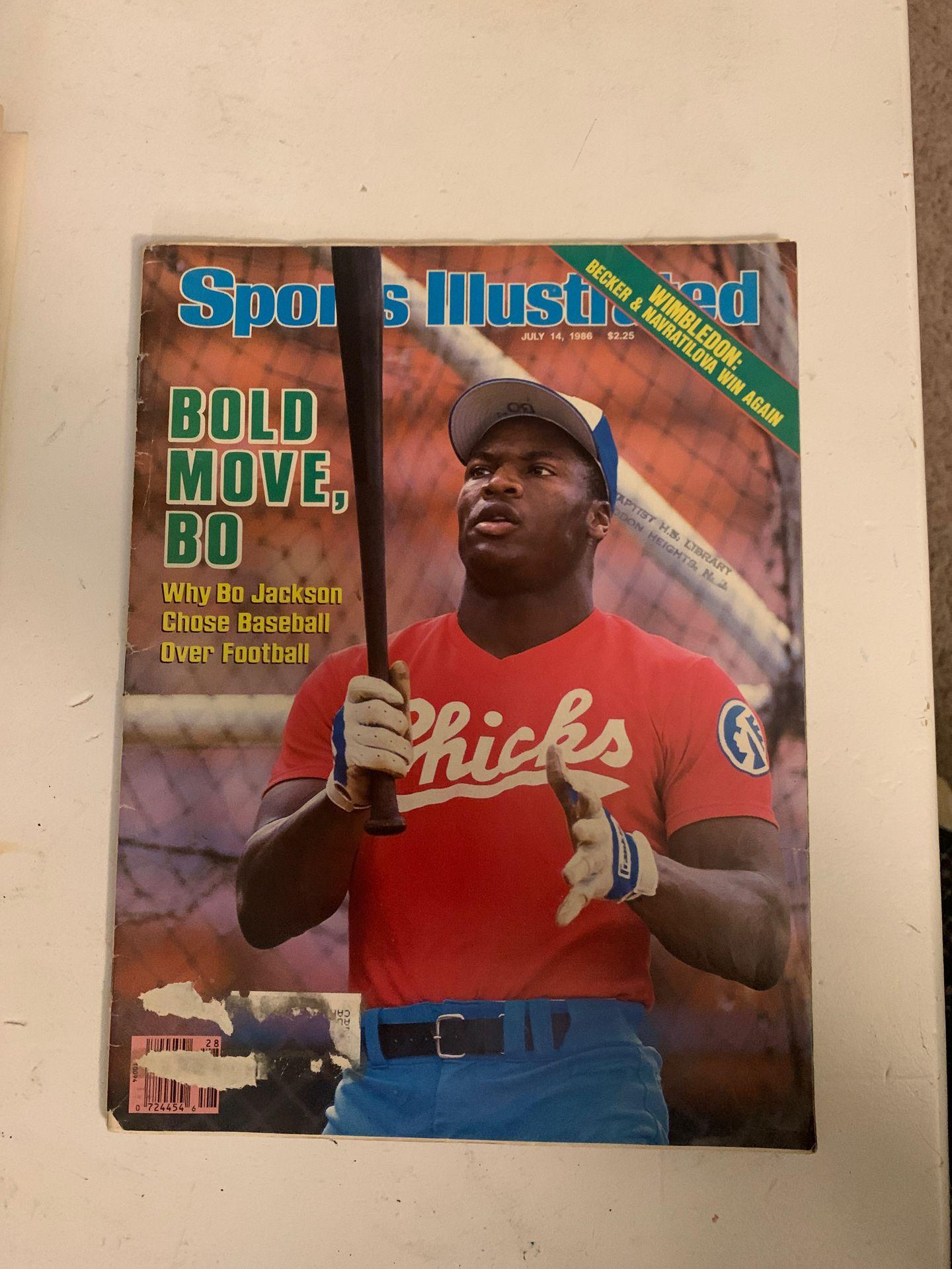 Sports illustrated July 14, 1986 Bo Jackson.