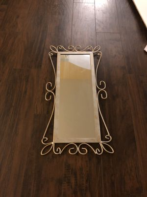 Grey Metal Frame Mirror for Sale in Alexandria, VA