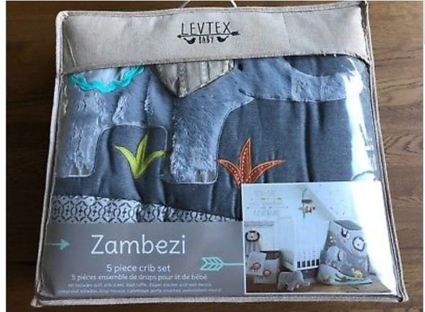 Brand New Levtex Baby Zambezi 5 Piece, Levtex Baby Zambezi 5 Piece Bedding Set