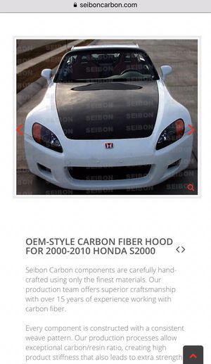S2000 Siebon carbon fiber hood  for Sale in Hacienda Heights, CA