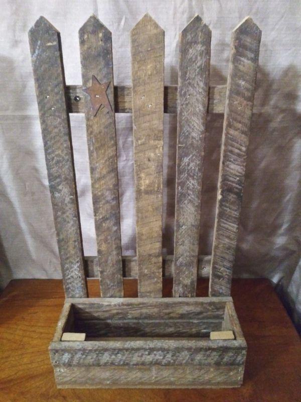 Barn Wood Picket Fence Shelf for Sale in Elizabeth, PA ...