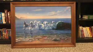 Horse equestrian ocean wall art for Sale in Berryville, VA