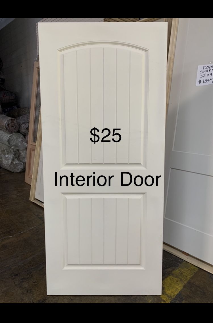 New Door Slab No Frame 36in X 80in Price Per Each
