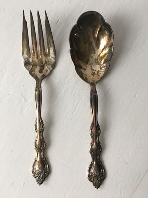 Silver Serving Spoon and Fork for Sale in Fairfax, VA