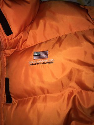 Ralph Lauren Polo vintage Orange Puffer Jacket for Sale in Silver Spring, MD