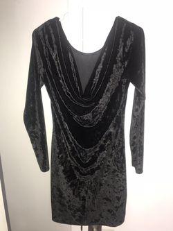 Velvet Black Dress Thumbnail