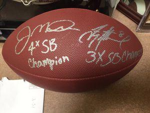 Photo Joe Montana & Troy Aikman Signed football