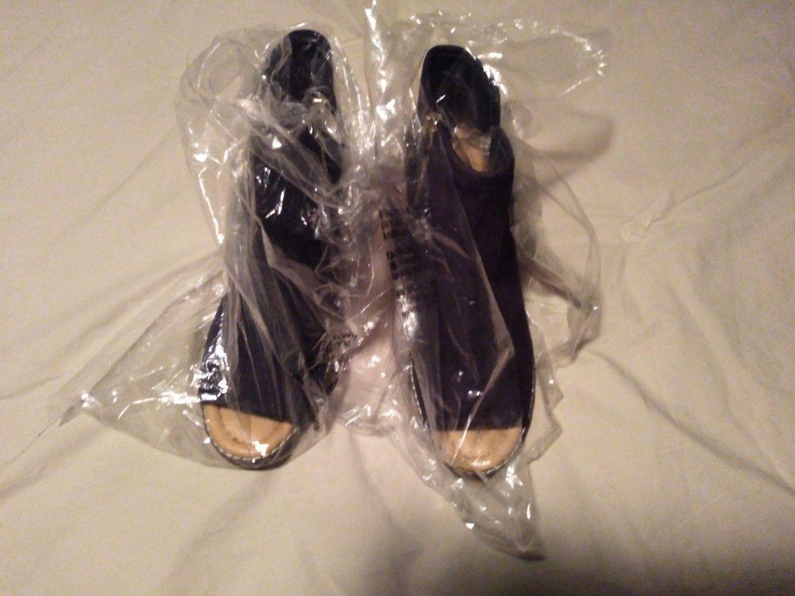 Women's open toe ankle boots