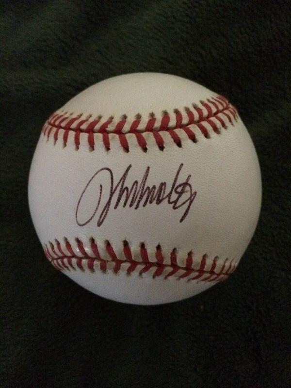 Signed John Smolts baseball