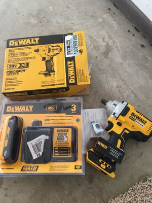 DEWALT 20-Volt MAX XR Lithium-Ion Cordless Brushless 1/2 in. Impact Wrench with Detent Pin Anvil kit for Sale in Woodridge, IL