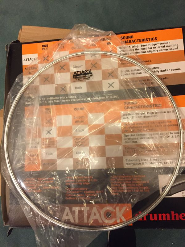 attack 13 medium drum head clear new for sale in highland il offerup. Black Bedroom Furniture Sets. Home Design Ideas