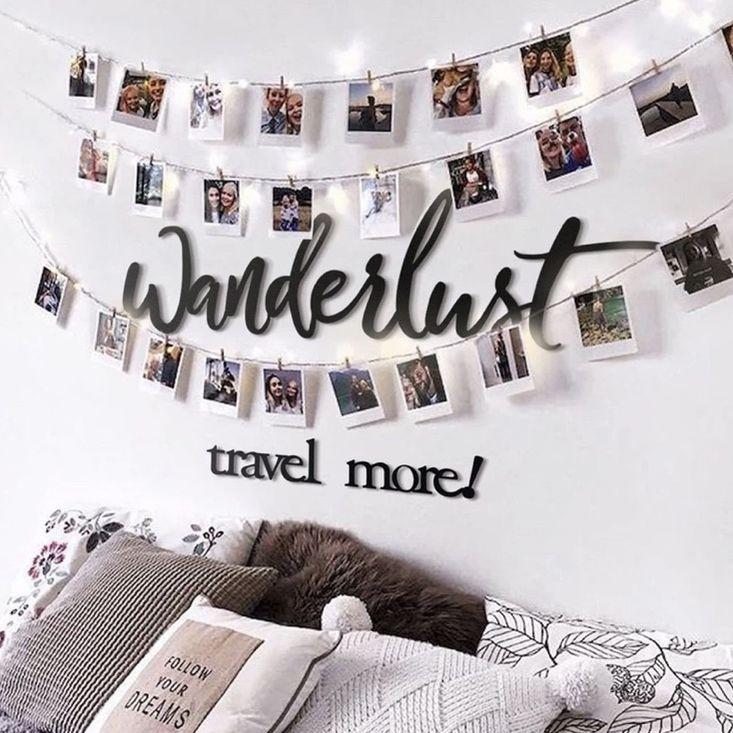 Adorable & Brand New Metal Wanderlust Wall Decor
