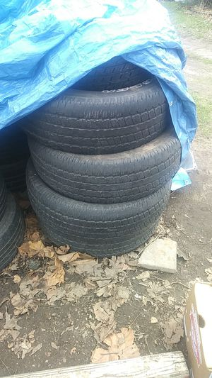 Photo Set of four Goodyear 275-65-18 inch tires