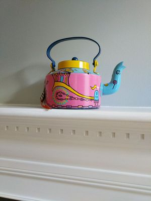Handpainted Kettle for decor for Sale in Aldie, VA