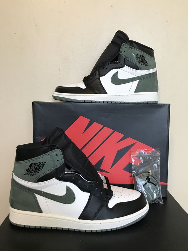 62f1a648f7f60f Size 10 Air Jordan 1 Retro High OG Clay Green New for Sale in ...