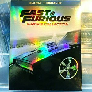 🆕 Fast & Furious 8-Movie Collection w/ Slip Cover (Blu-Ray + Digital HD) for Sale in San Diego, CA