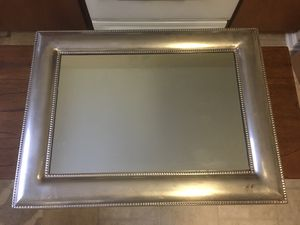 Pottery Barn silver framed mirror for Sale in Olney, MD
