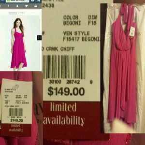 BEGONIA/HOT PINK Chiffon Dress NEW for Sale in Philadelphia, PA