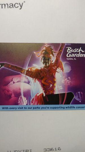 Busch Gardens Fun Card for Sale in Tampa, FL