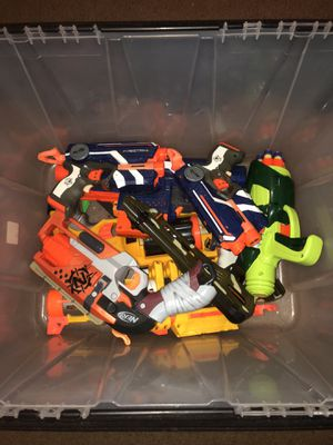 Nerf Gun Crate (8 Guns) for Sale in Silver Spring, MD